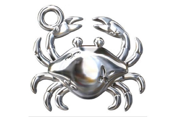 charms crabe argent